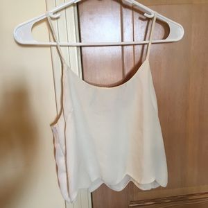 Pacsun scalloped tank top